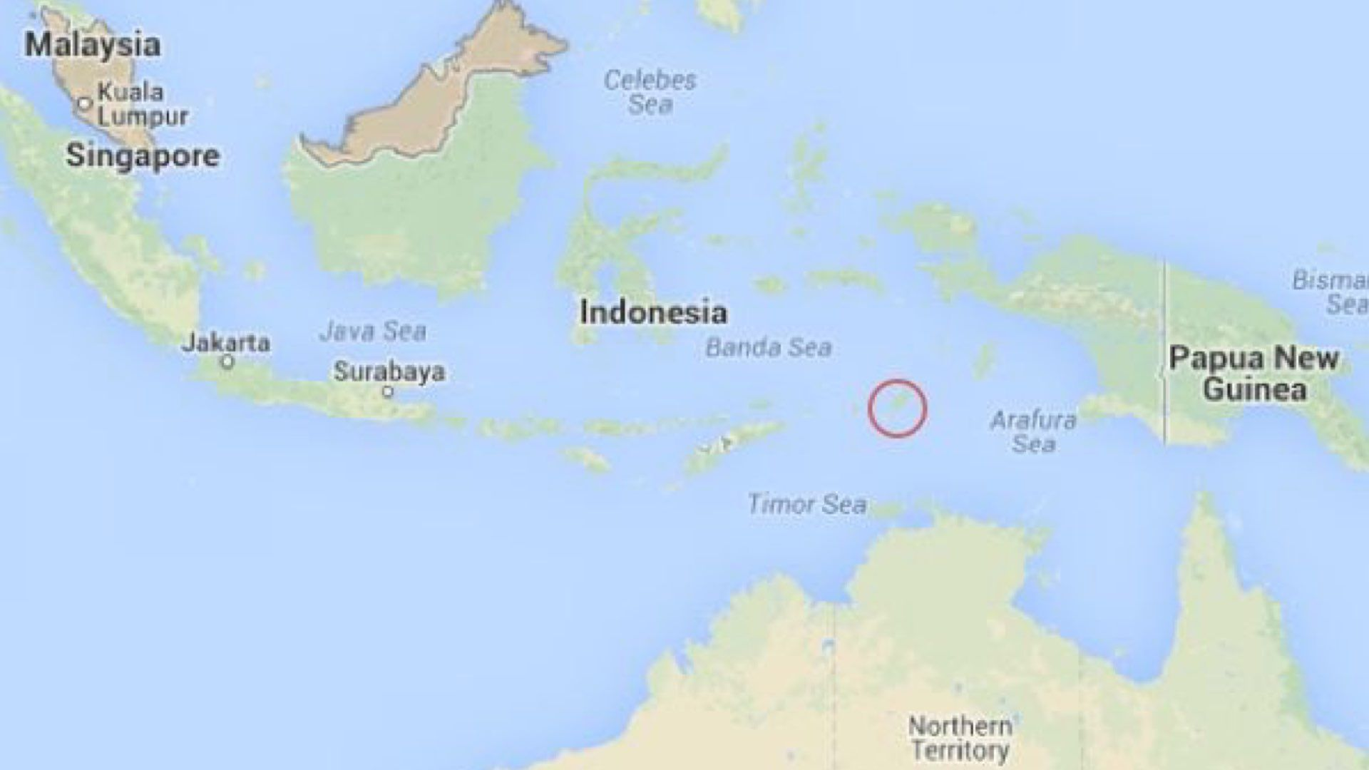 Isla de damar en Indonesia
